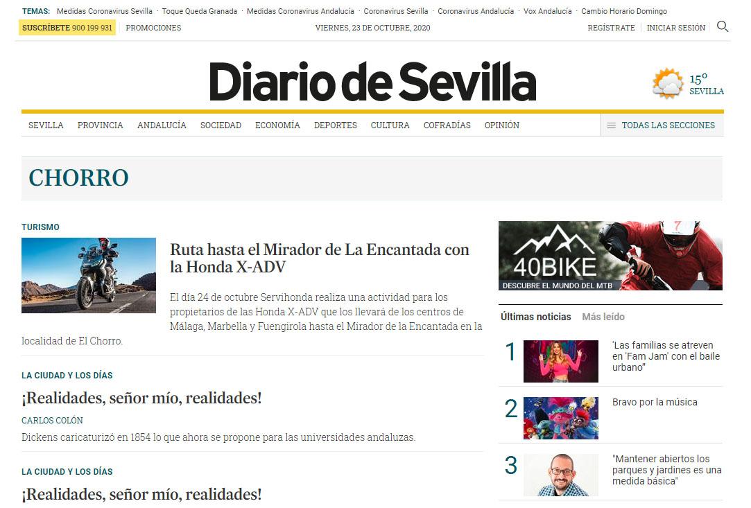 Previo Ruta Honda X-ADV Diario de Sevilla