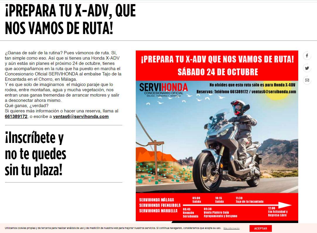 Previo Ruta Honda X-ADV Red Wing Riders