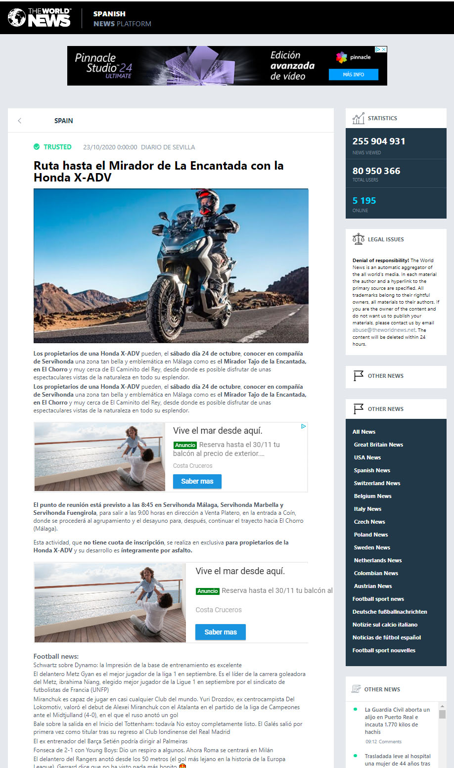 Previo Ruta Honda X-ADV World News