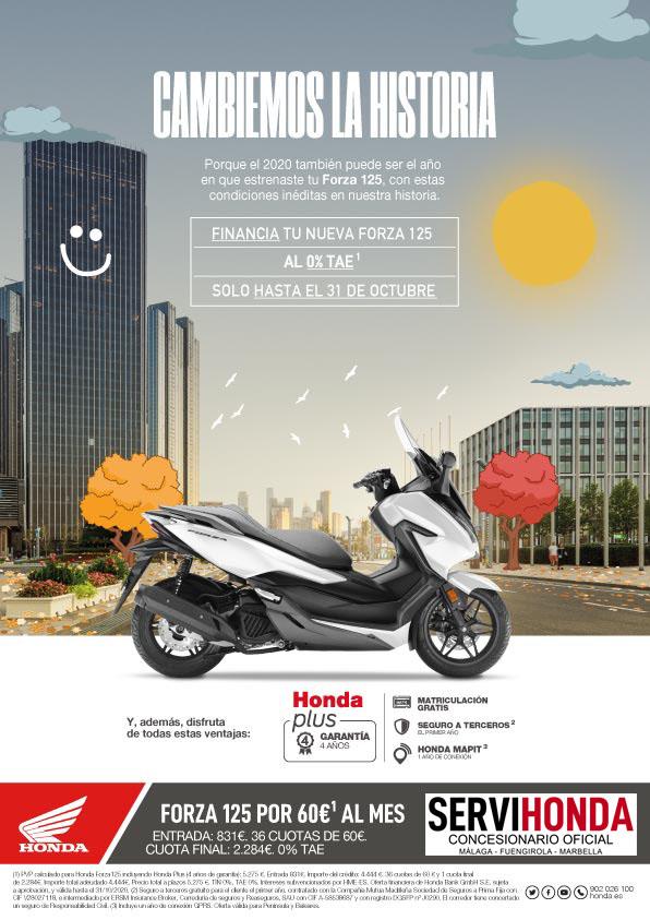 Promoción Honda Forza 125 Octubre 2020.