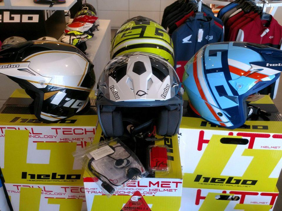 Casco Hebo de Trial, más pack de seguridad de regalo en Servihonda Boutique.