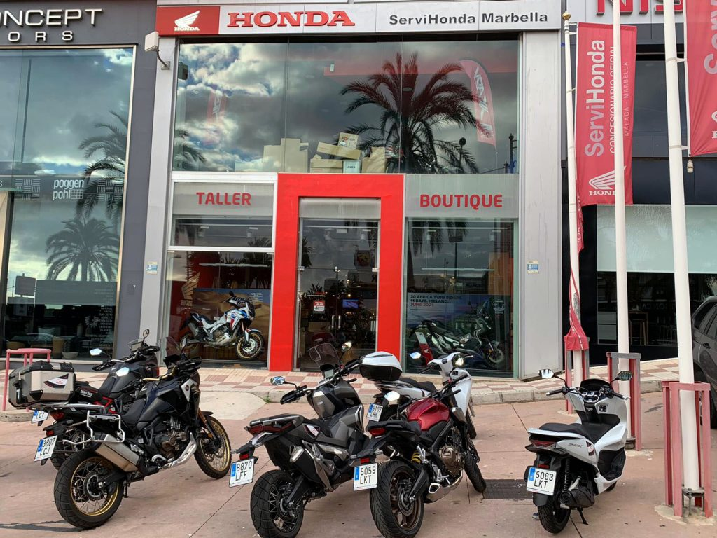 """Motos """"Demo Bike"""" en Servihonda Marbella."""