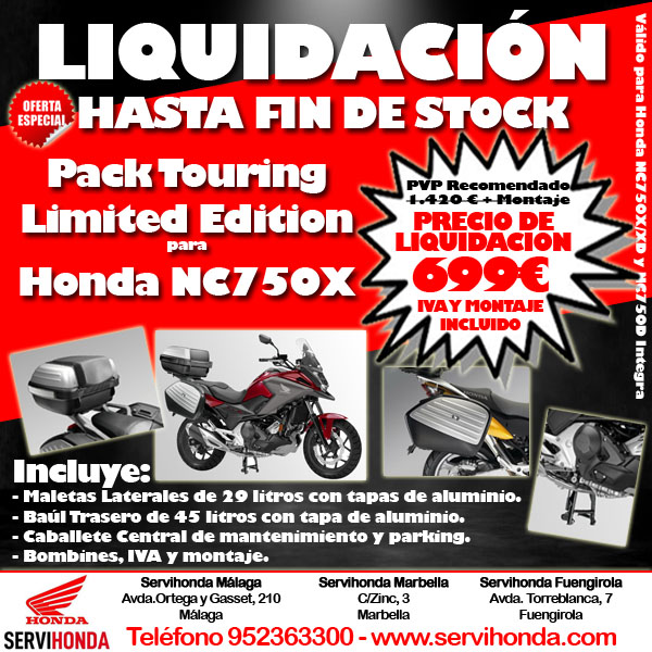 Promoción Pack Touring Limited Edition
